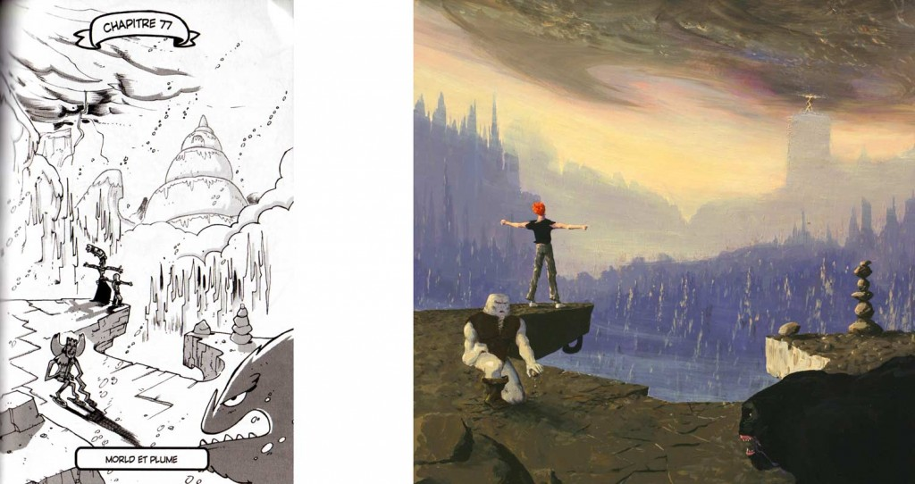 Cette illustration reprend la composition de l'affiche du jeu Another World