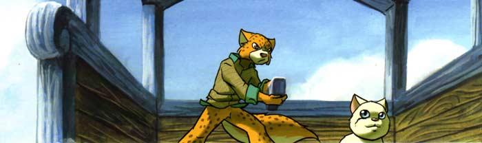 Léopardo repart avec le chaton d'Ecaron