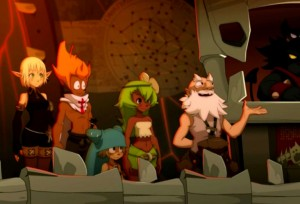 Yugo et ses ami arrivent  Brkmar (Wakfu)