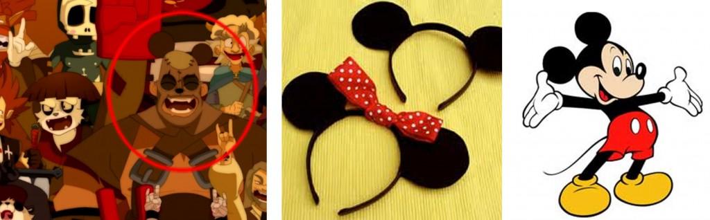 Un des spectateurs a un serre-tête avec des oreilles de Mickey
