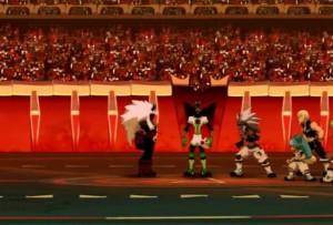 Le Boufbowler Masqué affronte l'équipe de Kriss seul (Wakfu - Boufbowl)