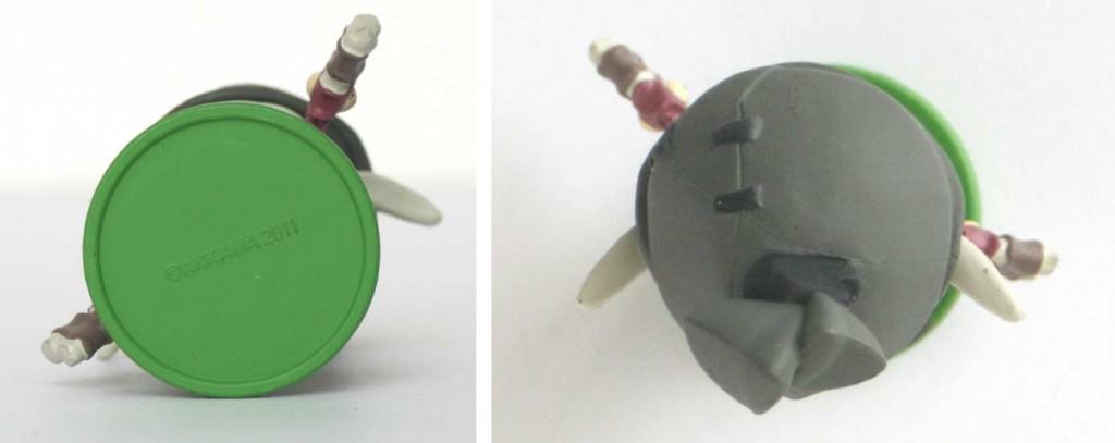 Vue de dessus et dessous de la Figurine SD de Remington