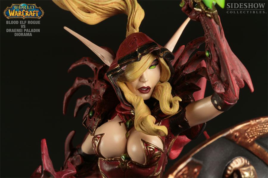 Diorama World of Warcraft / Sideshow Collectibles : Elfe de sang vs draenei