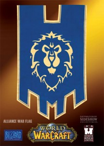 Drapeau alliance de World of Warcraft