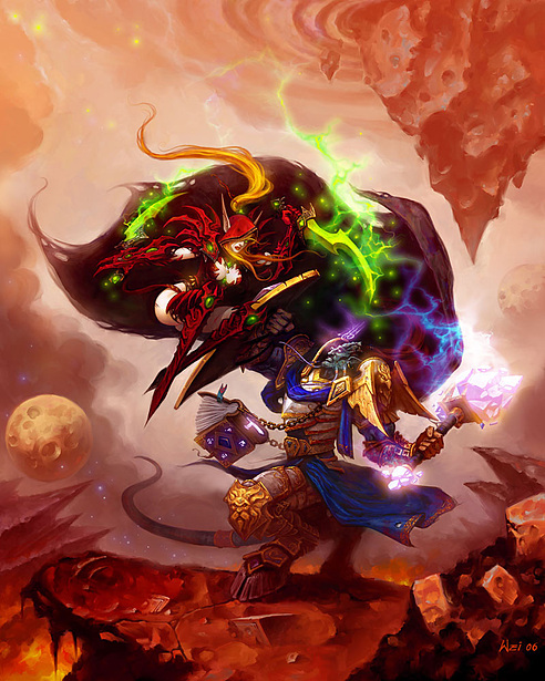 World of Warcraft : elfe de sang vs Draenei