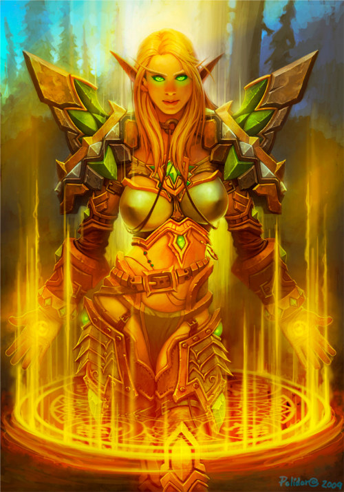 World of Warcraft : image d'un paladin elfe