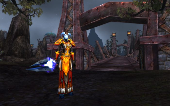 World of Warcraft : capture d'un paladin draenei