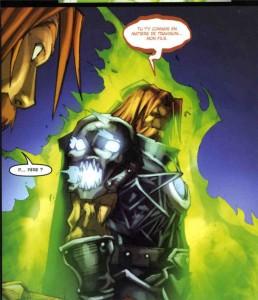 Après que Darion ait tué son père Alexandros devenu chevalier de la mort, l'anicien paladin dont l'âme est bloquée dans Porte-Cendres retrouve son fils pour le tuer.