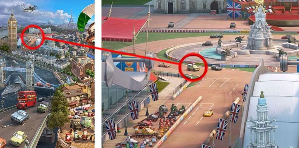 Le pick-up de Pizza planète est présent sur l'affiche
