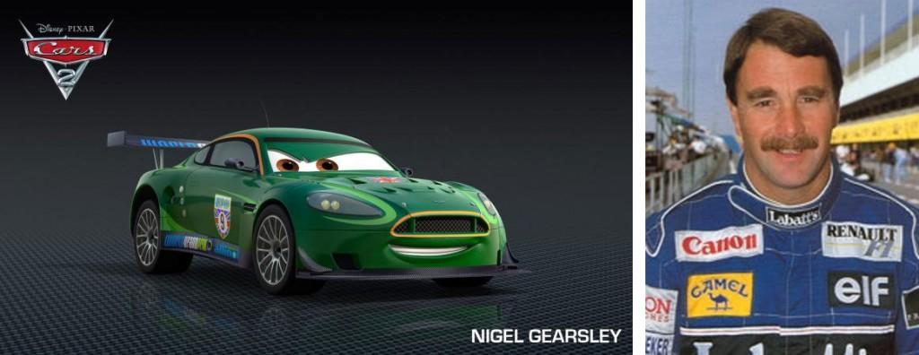 Nigel Gearsley est un clin d'œil au champion anglais Nigel Mansell