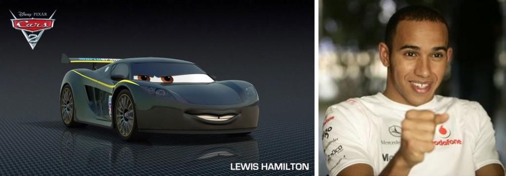 Lewis Hamilton est inspiré de la Mclaren MP4/12C, son nom évoque le pilote du même nom
