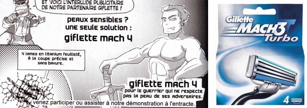 l'épée Giflette Mach 4 est une parodie des rasoirs Gilette Mach 3 (Dofus Arena)