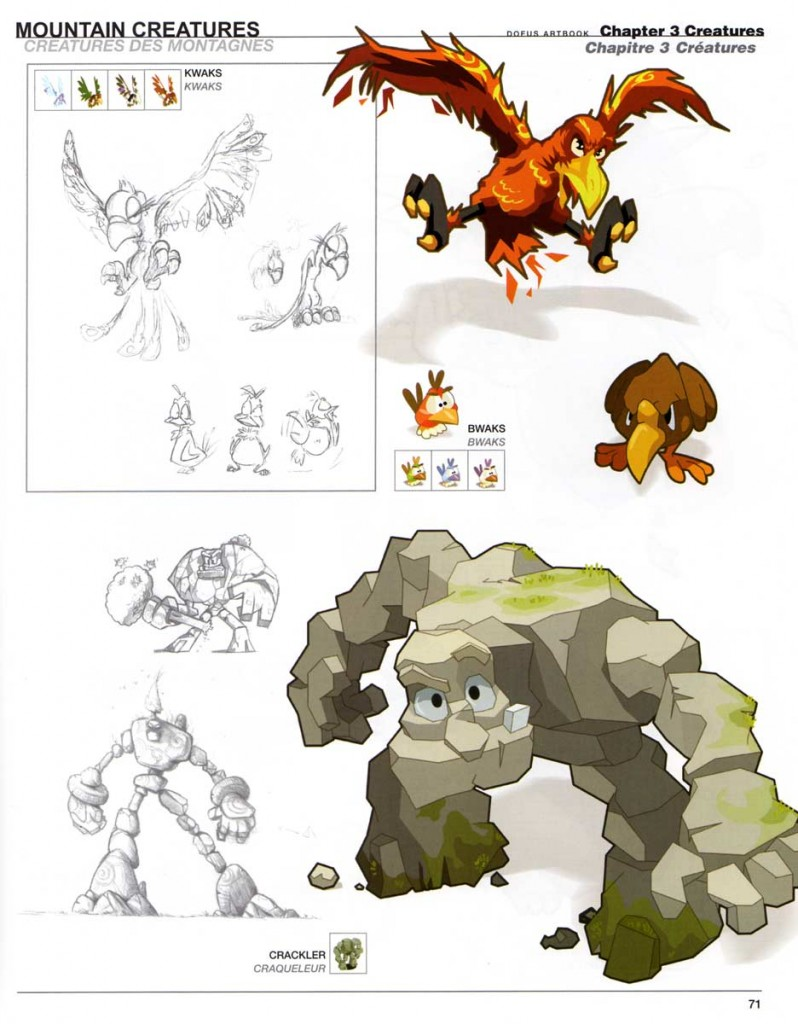 Page 71 du Dofus Art Book : Session 1
