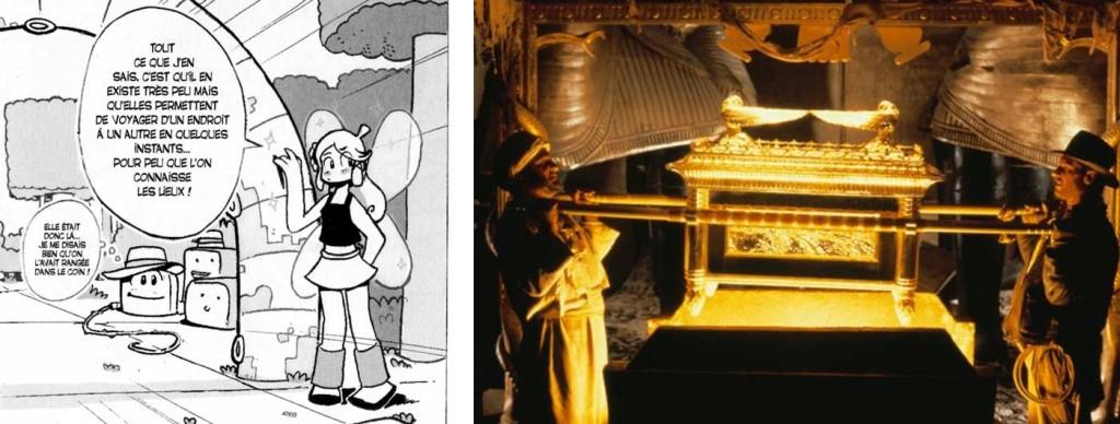 La gelé fait référence à Indiana Jones et les aventuriers de l'Arche Perdue