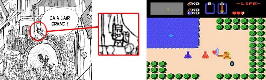 Dans la foule on peut voir Link de Zelda