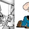 Les avants bras de ce guerrier sont un clin d'oeil à Popeye (Dofus Tome 3)