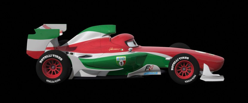 Francesco Bernoulli de profil (Cars - Pixar)