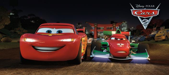 Francesco Bernoulli affronte Flash McQueen à Tokyo (Cars - Pixar)