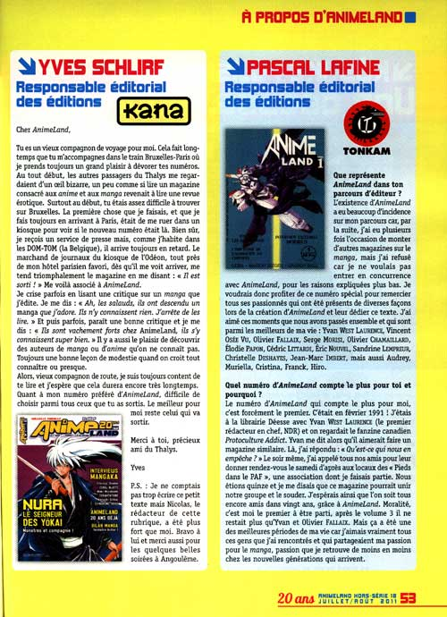 Interview Lafine - animeland-HS18