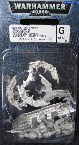 Packaging de la Mécarachnide Nécron (Warhammer 40.000)