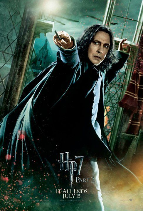 Affiche teaser américaine Harry Potter avec Severus Rogue