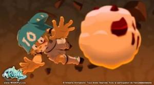Yugo joue au Boufbowl dans la série Wakfu