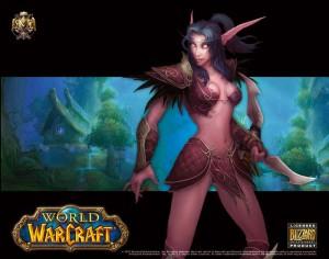 Tapis de souris Compad World of Warcraft Alliance / elfe de la nuit