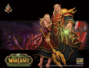 Tapis de souris Compad World of Warcraft Elfe de sang