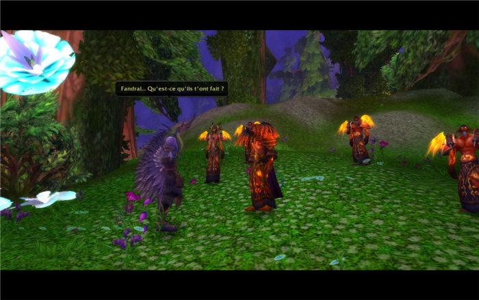 Malfurion rencontre son ancien disciple et ami Fandral devenu un druide du feu de Ragnaros
