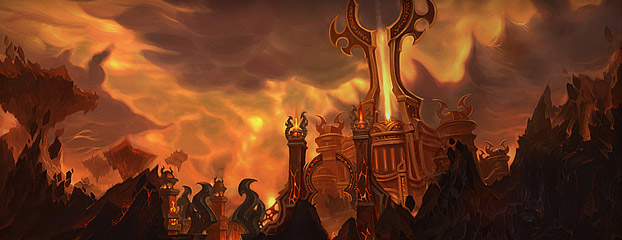 Artwork sur les terres de feu de World of Warcraft