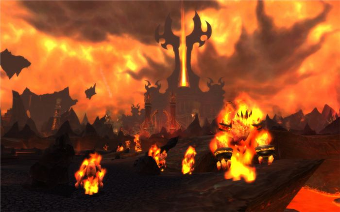 Capture des terres de feu de World of Warcraft