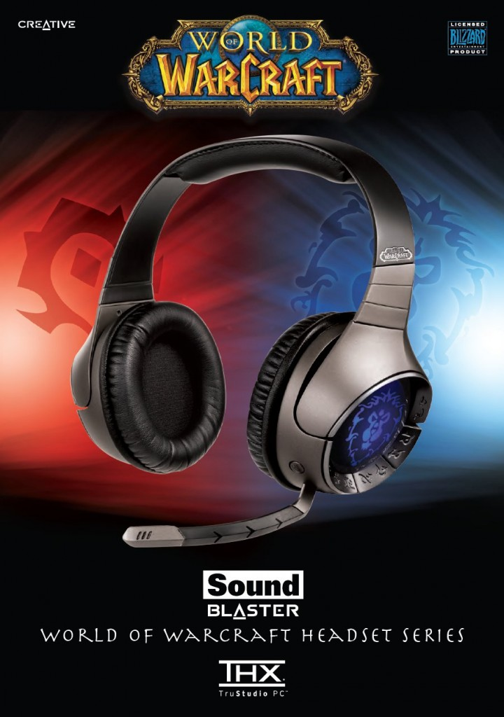 Page 2 de la présentation officielle du casque World of Warcraft / Soundblaster