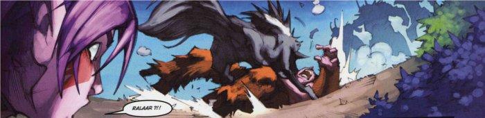 Rallaar vient sauver Belysra des démons (dans le tome 2 de la malédiction des worgens)