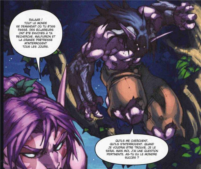 Rallaar demande à Belsyra pour créer la faux d'Elune (dans le tome 2 de la malédiction des worgens)