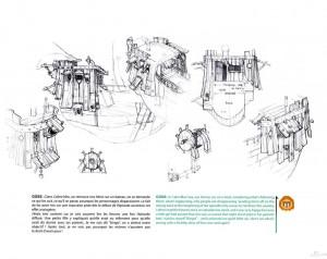 Le bateau de Yugo est détaillé avec précision (Art book Wakfu Tome 6)