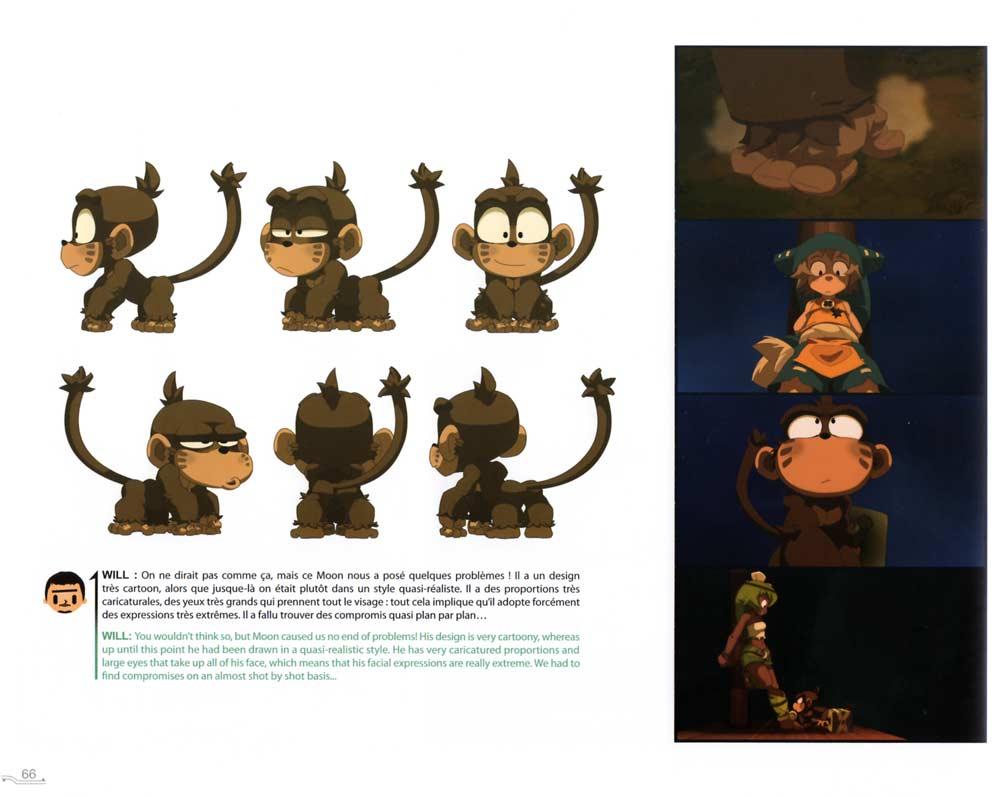 Model Sheet du singe Moon (Art Book Wakfu Tome 6)