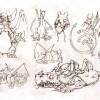 Croquis de recherche sur le dragon Grougaloragran (Art book Wakfu Tome 6)