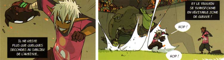 Kriss fait ses débuts comme joueur professionnel (Boufbowl - Comics n°1)