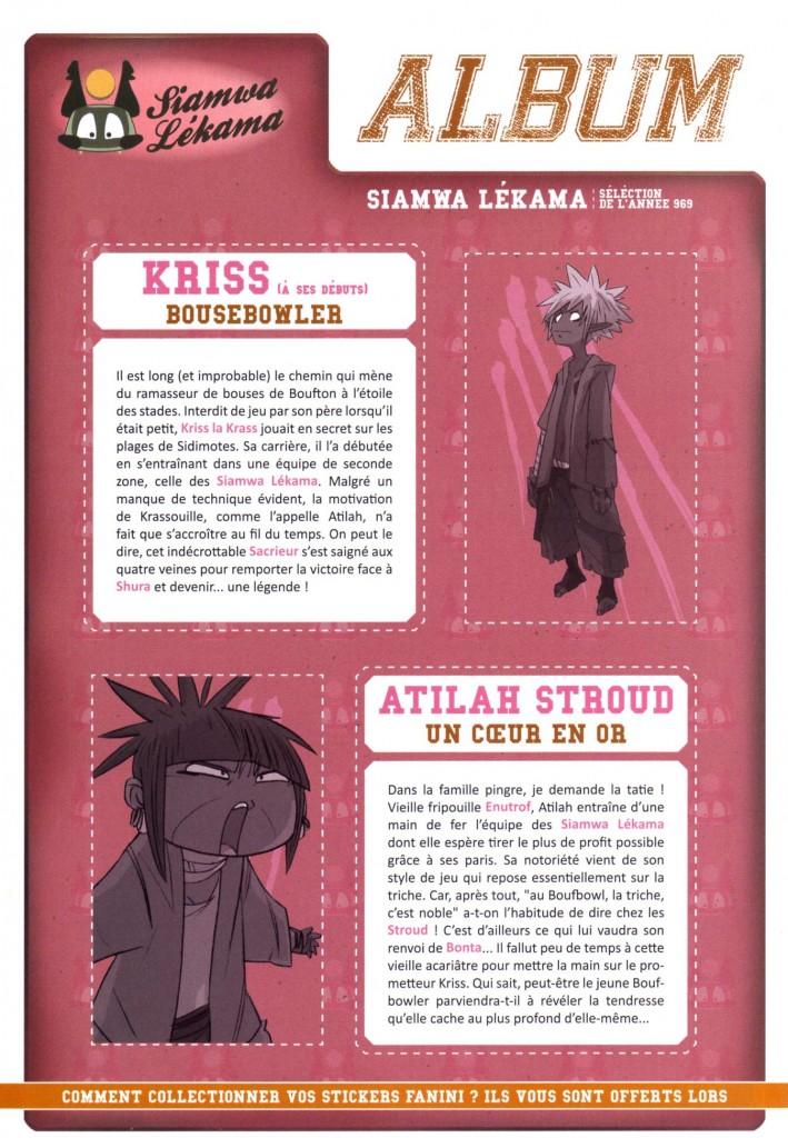 Kriss la Krass et Atilah Stroud (Boufbowl tome 1 - comics)