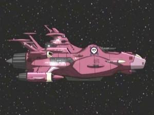 le vaisseau de Kei Yuki évoque le design de l'Atlantis d'Albator 78 (Herlock Endless Odyssey)