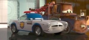 Finn McMissile déguisé en douanier Japonais (Cars - Pixar)
