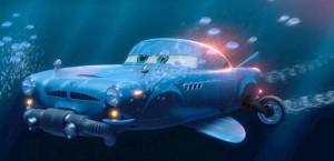 Finn McMissile peut se transformer en sous-marin  (Cars - Pixar)