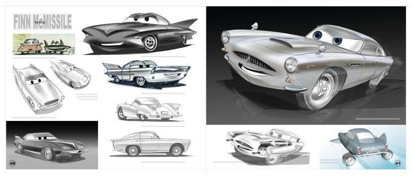 Recherches et évolution de Finn McMissile (Pixar - Cars)