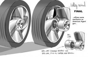 Holley Shiftwell a un taser dissimulé dans sa roue (Pixar -Cars)