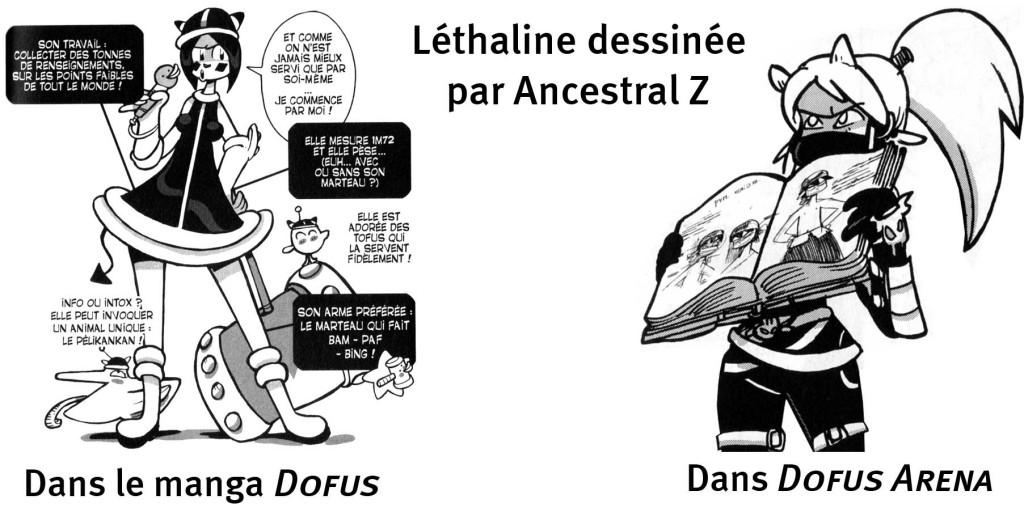 Lethaline Sigisbul : Comparaison de design entre Dofus et Dofus Arena