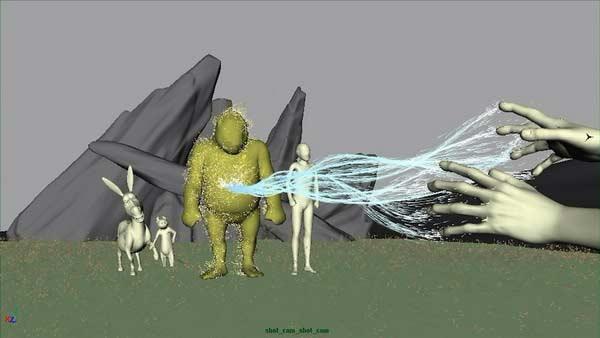 Animation 3D en prérendu tirée de Shrek