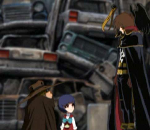 Dans la version anglophone Albator parle à Stellie comme à une inconnue (Herlock Endless Odyssey)