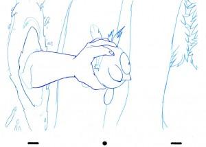 Animation au trait tirée de l'épisode 2 de Wakfu