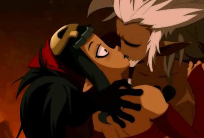 Kriss était amoureux de Maude et l'a embrassé (Wakfu)