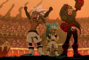 Maude, Kriss la Krass et Yugo ont remporté la victoire (Wakfu)